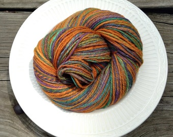 Handspun Merino/ Slik Worsted Weight Yarn