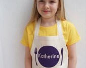 Personalized Girls Apron, birthday gift, kids apron, child apron, toddler apron, name apron, personalised apron, baking present