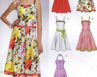 Summer dress sewing pattern or bridesmaid dress New Look 6724 Size 8 to 18 Uncut