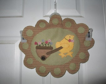 Easter Chick  Wool Penny Rug