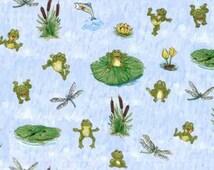 Frogs Suzy Zoo Great Outdoors Hoffman Fabric 1 yard