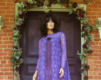 Gothic Witch Purple Lace Gown SALE 70% OFF