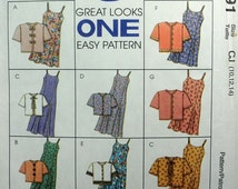 McCall's 8091 - 8 Easy Girls Sundresses & Jackets in One Pattern - Size 10, 12, 14 - Easter Dress - UNCUT