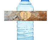 W108 - Custom water bottle labels self adhesive water proof personalized you choose colors vinyl label sticker wrap