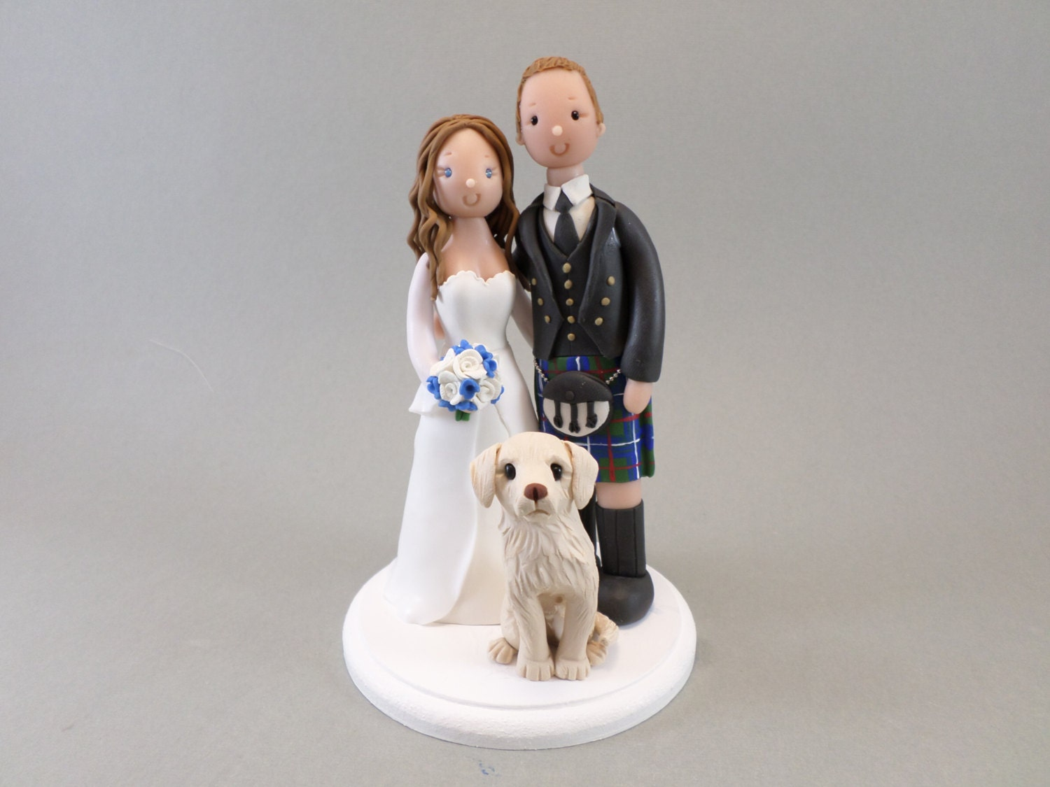 cheeky scottish wedding cake toppers cake topper customized scottish wedding amp groom with a 12550