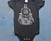Train Onesie - Baby Bodysuit - Train Baby Romper - Black Train Onesie - Gift for Baby Boy - Gift for Newborn Baby - Baby Shower Gift - Baby