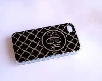 Black + Gold iPhone 5,  Case + Monogram iPhone 5,  Case + Black and Gold