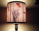 Fish Carousel lamp shade lampshade - goldfish, zen decor, drum lamp shade, unique lighting, modern decor, Spooky Shades, white lampshade