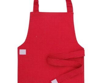 Red Polka Dot Apron - Toddler & Primary