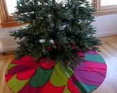Marimekko Christmas Tree Skirt With Large Feathered Pattern