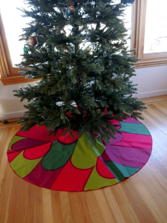 Items similar to marimekko christmas tree skirt with large