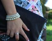 Simple Cream Glass Pearl Beaded Bracelet