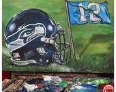 JEREMY WORST Custom NFL Helmet Painting Original Acrylic Painting 30 x 20 Art Piece Great Gift For Him