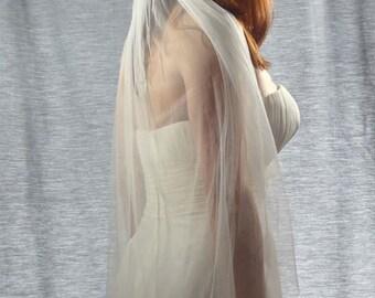 French Silk Tulle Veil, 100% Silk Wedding Veil