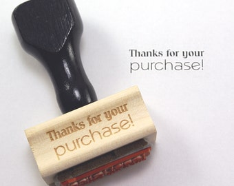 THANKS FoR YOUR PuRCHASE Wood Stamp Stationery rubber stamp, sellery supply, gift tag or business card stamp