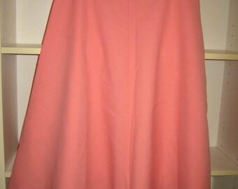 Skirt, Pink,Bias Cut,60s,Mod,ILGWU, Made in America