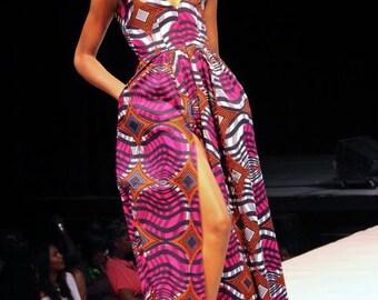 Grace cap sleeve maxi dress