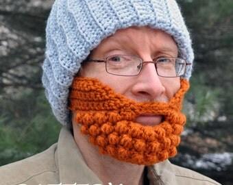 Crochet PATTERN ONLY Beard for a Beard Hat - Digital DOWNLOAD
