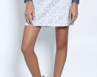SALE, Mini skirt, Womens skirts, High waist skirt, printed skirt, Day skirt, Casual skirt, Short skirt, light blue skirt, Pencil skirt