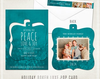 Holiday Bokeh Luxe Pop Card & Address Label