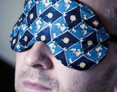 SALE-Adjustable Silk Sleep mask with small horse motifs for men and women - unisex - by Love Me Sugar on Etsy