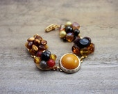 Vintage bracelet repurposed made from vintage earrings. One of a kind and beautiful. QUEEN BEE