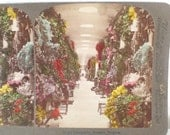 Antique Color Stereograph Card Catacombs Brussels Belgium Underwood 1901 Victorian Stereoscope Card GallivantsVintage Trending