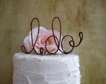 I DO Wedding Cake Topper, Rustic Wedding Cake Decoration, Bridal Shower Decoration, Engagement Party Cake Decoration, Anniversary Party