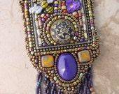 Honey Bee Mosaic Necklace