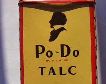 Antique Walgreen Co. Po~Do Talc tin