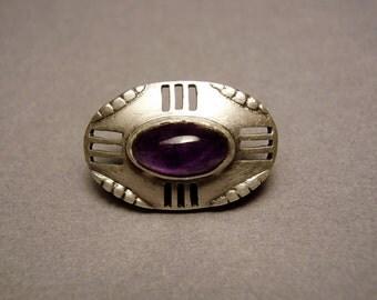 Theodor Fahrner Jugendstil Button Patriz Huber Ludwig Knupfer Max J Gradl Darmstadt Art Nouveau Depose 935 Sterling Silver Cuff Link Brooch