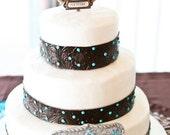 Horseshoe Western Wedding Cake topper personalized, western weddings, custom cake topper, western grooms cake topper