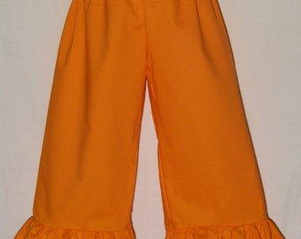 Boutique Ruffle Pants or Shorts / Orange / Birthday / Fall / Thanksgiving / Newborn / Baby / Girl / Toddler / Custom Boutique Clothing