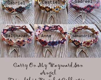 Carry On My Wayward Son Angel Friendship Bracelet Collection