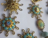 "Swarvovski Turquoise And AB Crystal ""Star"""