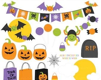 halloween clipart digital clip art trick or treat - Halloween Accents Clipart