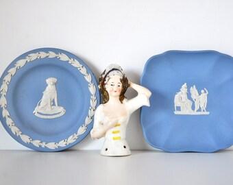 Blue Wedgwood Jasperware Dishes