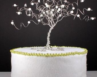 Frozen Tree Winter Wedding Cake Topper Custom Wire Tree Sculpture