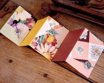 Autumn Patchwork Cards Vintage Shabby Fall Fabric Place Cards Prim Cutter Quilt Hang Tags Old Quilted Gift Tags itsyourcountry