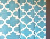 Pair of Custom Curtain Panels - White, Grey or Navy Lining