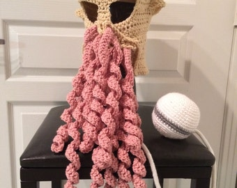 Adult-size Crocheted Doctor Who Ood Hat