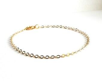 Dainty Gold Bracelet, Thin Gold Bracelet, Layering Everyday Bracelet, Delicate Gold Bracelet, Simple Gold Bracelet, Gold Chain Bracelet