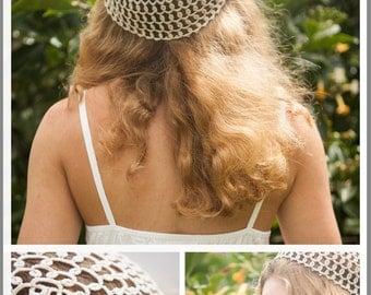 Pattern-Needle Tatting-Tatted Hat - Cap - Beanie PDF Pattern by RustiKate (Great Beginner & Intermediate Project!)