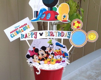 Mickey Mouse Clubhouse Centerpiece - Minnie Birthday Party - Table Decoration - TOODLES
