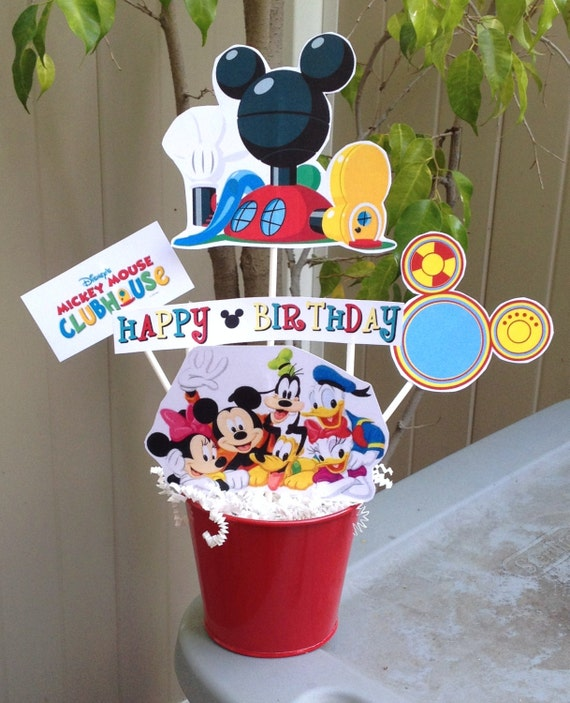 mickey mouse clubhouse centerpiece minnie birthday party