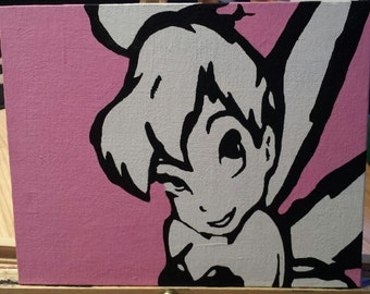 Tinker Bell Acrylic Painting