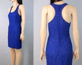 80's Dress 90's Dress 80's Mini Dress 80's Beaded Dress Sexy Dress Cocktail Dress Glam Party Dress Purple Dress 80's Clothing 90's Clothing