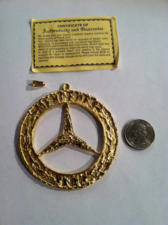 Deadstock mercedes benz medallion 80 39 s gold by jointcustodydc for Mercedes benz charm