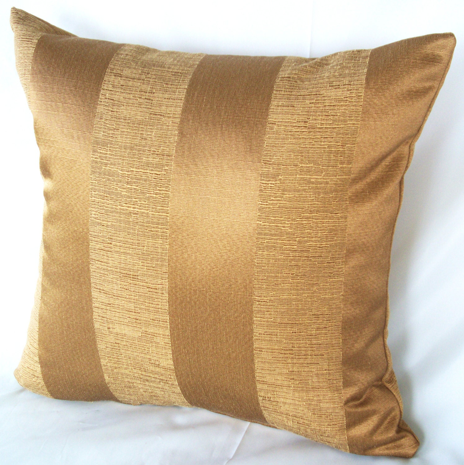 Gold Stripe Decorative Pillow : Gold stripe pillow Couch pillows Cushion cover by artsandcreations