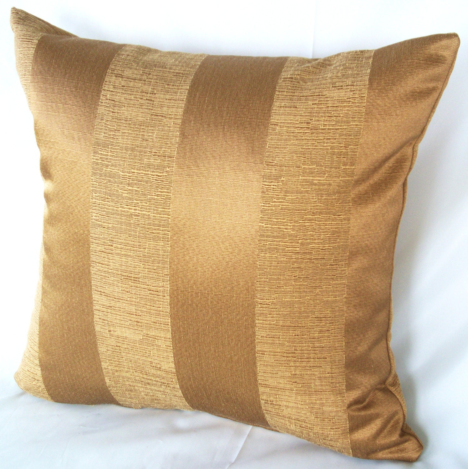 Gold stripe pillow couch pillows cushion cover by for Couch cushion pillows